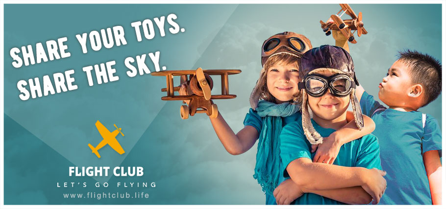 Flight Club Advertisement Banner