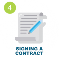 Signing a contract icon